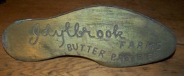 VINTAGE IDYLBROOKE FARMS BAKERY BUTTERY BRASS PASTRIES ADVERTISING SIGN ... - $74.24