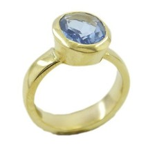 delightful Blue Shappire CZ Gold Plated Blue Ring gemstone US 6,7,8,9 - $6.99