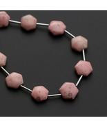 Thulite Smooth Hexagon Flats Beads 4x10 mm Gem Quality 7 Inch 17 Cm Full... - $98.01