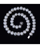 Natural Freshwater 9-10mm Potato Genuine Pearl Necklace Bead Round - $27.20