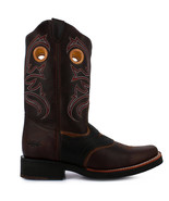 Men's Angus Brown Long Horn Leather Boot - $98.98