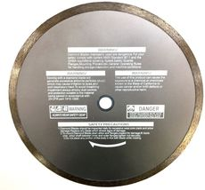 10'' tile diamond blade for terrazzo, marble, granite and porcelain wet saw - $38.00