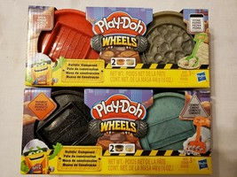 Lot of 2 Play-Doh Wheels Buildin' Compound Pavement & Cement Brick & Stone  - $13.76