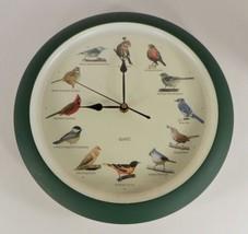 Mark Feldstein Singing Bird Wall Clock Green Frame Quartz - $24.70