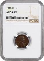 1916-D 1c NGC AU53 BN - Lincoln Cent - $58.20