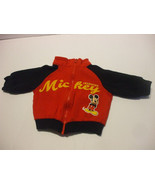 Mickey Mouse Red Long Sleeve Jacket Baby 3-6 Months Cotton Blend - $11.95