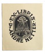 Ex Libris Book Plate Exlibris Dr. Andre Ernest Huber - $29.69