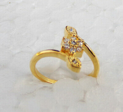 Indian American Diamante Fashion Jewelry Bollywood Party wear Ring Golden fg4