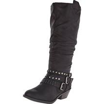 Report Footwear Women's sz 6.5 M Kathye Black Cowboy, Western Boots nwob  - $19.99