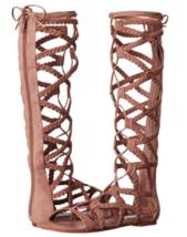 Steve Madden Size 6 M SAMMSON Sand Gladiator Knee High Sandals New Women... - $117.81
