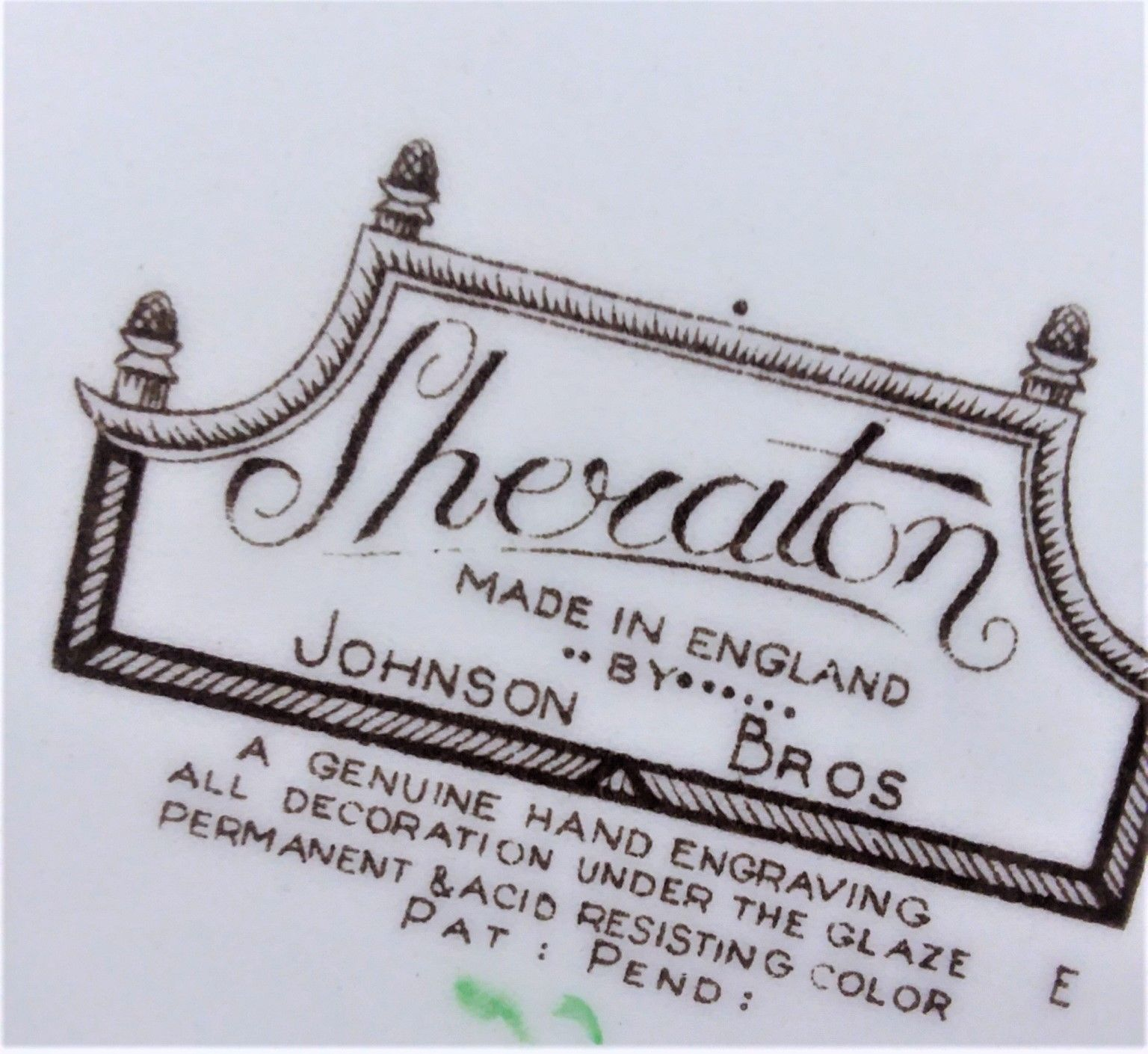 VTG COLLECTIBLE JOHNSON BROTHERS SHERATON SQUARE SALAD PLATE MADE IN ENGLAND image 4