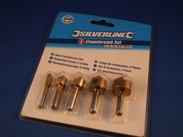 Counter sink drill bit 5 piece set 6-19mm for wood and plastics - $8.87
