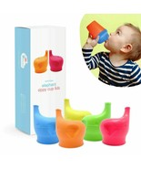 Silicone Sippy Cup Lids (5 Pack) - Elephant Silicone Spout Makes Cup !!! - $19.99