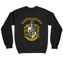 Harry Potter Hufflepuff Logo & Crest Children's Unisex Black Sweatshirt - $25.07