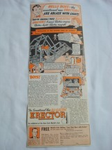 Advertisement from 1939 All-Electric Erector Sets A.C. Gilbert Co., New ... - $9.99