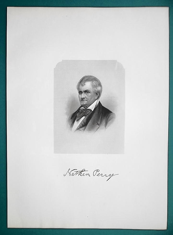 NATHAN PERRY Ohio Millionaire & Pioneer Merchant - 1881 Superb Portrait Print