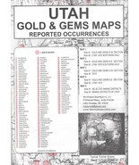 Utah Gold & Gems Maps - Then and Now - $15.95