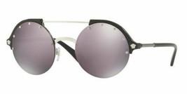 Versace Gafas de Sol VE4337 GB1 / 5R 53MM Plateado y Negro Gris Oscuro Rosa - $148.50