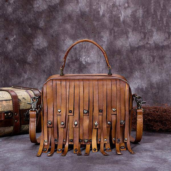 Sale, Vintage Full Grain Leather Shoulder Bag, Designer Handbag For Women