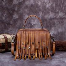 Sale, Vintage Full Grain Leather Shoulder Bag, Designer Handbag For Women image 1