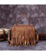 Sale, Vintage Full Grain Leather Shoulder Bag, Designer Handbag For Women - $200.00