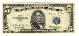 Series of 1953 A Silver Certificate $5 Dollars E91107936A - $17.82