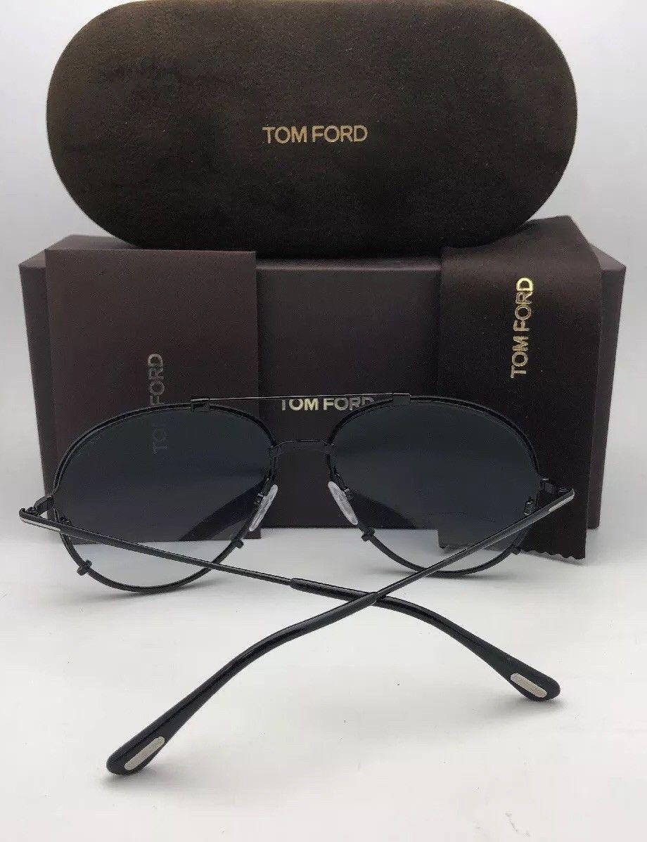 New TOM FORD Sunglasses DICKON TF 527 08B 59-14 Gunmetal Aviator w/Grey Gradient