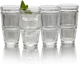 "Mikasa ""CARROLL GATE"" Fine Crystal Set of 4 Highball 11OZ (325ml) Clear ... - $29.90"