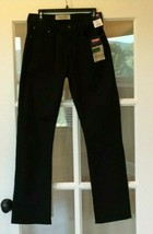 Black Denim Jeans Wrangler Straight Leg Mens 30 x 32 New - $25.73