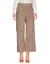 Classic Professional Casual Hot Women's Genuine 100% Soft Lamb Skin Suede Pants