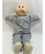 Vtg 1985 Coleco Cabbage Patch Kids Doll Bald w/Sweatsuit Outfit Shoes Tooth - $17.81