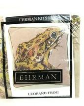 Ehrman Tapestry Elian McReady Leopard Frog Taupe Background Needlepoint ... - $124.73