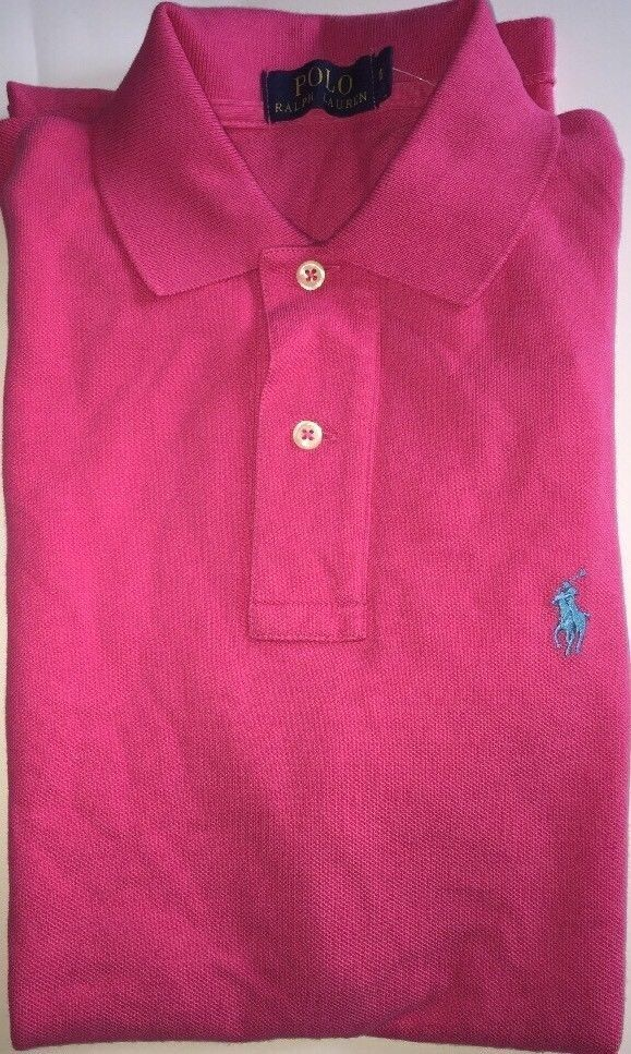 Ralph Lauren Men's Dark Pink Polo Shirt Classic Fit X Small RRP £70.00