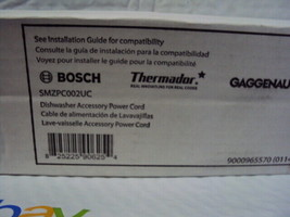 New OEM Genuine Bosch SMZPC002UC Dishwasher Power Cord Plug FREE 1ST CLA... - $24.74