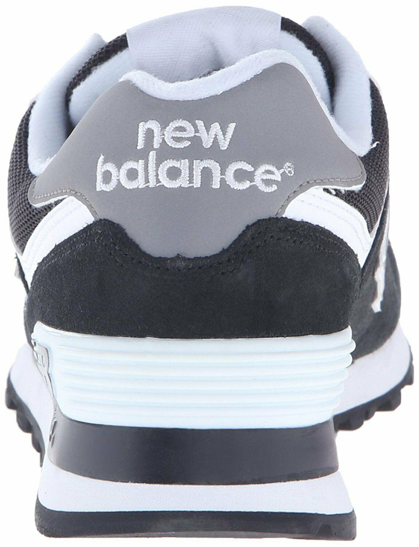New Balance Women's W574 Classic Fashion Sneaker, Black/White, US Women 6