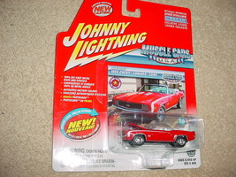 Johnny Lightning Muscle Cars Usa 1969 Camaro Conv. Red Color Free Usa Ship - $11.29