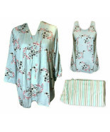 3 Piece Claudel Women's Aqua Floral Adaptive Loungewear Sleep Set, XX-Large - $45.00