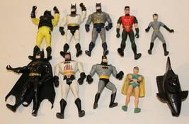 """10  DC Comics Batman 5"""" + smaller Figures 1990 - 1994 Kenner mostly batman robin - $24.74"""