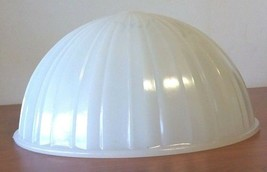 """Antique Light Milk White Glass Dome Glass Ceiling Fixture 12"""" Round - $35.53"""
