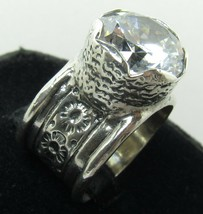 SILPADA 925 Sterling Silver CZ Cubic Zirconia Ring Sz 6.5 Israel QUEEN F... - $89.99
