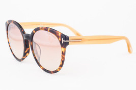 Tom Ford Philippa Blonde Havana / Brow Gradient Sunglasses TF503-F 52Z Asian Fit - $185.22