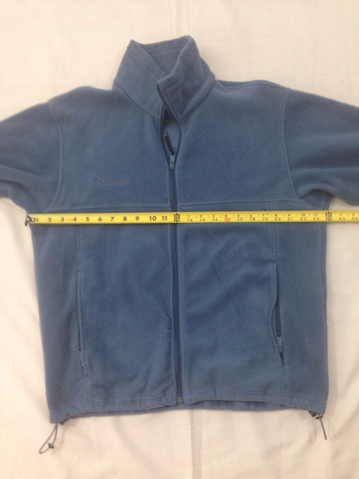 Columbia Mens M Dusty Blue Hiking Camp Lightweight Zip Front Fleece Jacket image 5