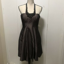 Nine West- NWT- Strapless Embellished Brown Dress Size 8 - $53.46