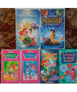 Disney Princess VHS Lot of 6 Includes Sing Along Under the Sea - $26.72