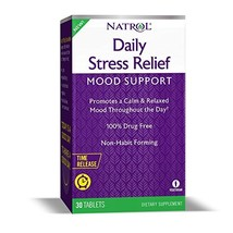 Natrol Daily Stress Relief Time Released 100Mg Tablets, 30 Count