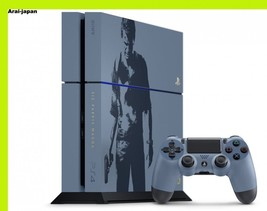 Uncharted Limited PS4 Game console set Gray blue Dualshock4 Sony Japan - $497.16
