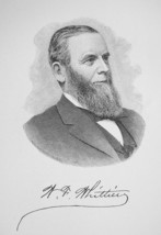 WILLIAM WHITTIER San Francisco Industrialist - 1895 Portrait Antique Print - $9.44