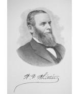 WILLIAM WHITTIER San Francisco Industrialist - 1895 Portrait Antique Print - $9.44