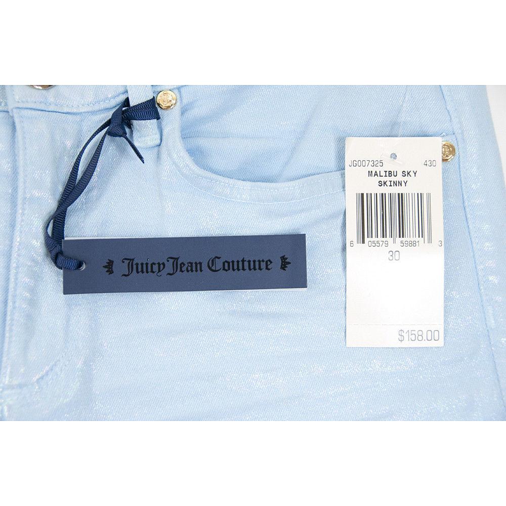Juicy Couture Black Label Malibu Sky Iridescent Stretch Skinny Jeans 30 NWT image 3