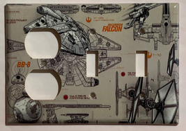 Star Wars Millennium Falcon BB8 BB-8 Switch Outlet wall Cover Plate Home Decor image 4